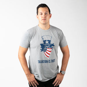 Taxation is Theft America | Dark Heather Grey