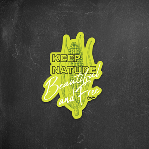 Yellow Corn - Keep Nature Free and Beautiful | Sticker