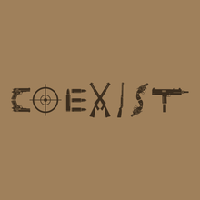 Load image into Gallery viewer, Coexist Unisex Short Sleeve Tee | Light Olive