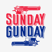 Load image into Gallery viewer, Sunday Gunday Racerback Tank | White Slub