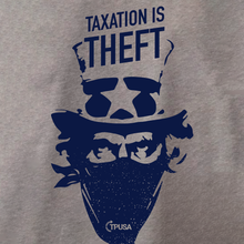 Load image into Gallery viewer, Taxation is Theft | Dark Heather Grey