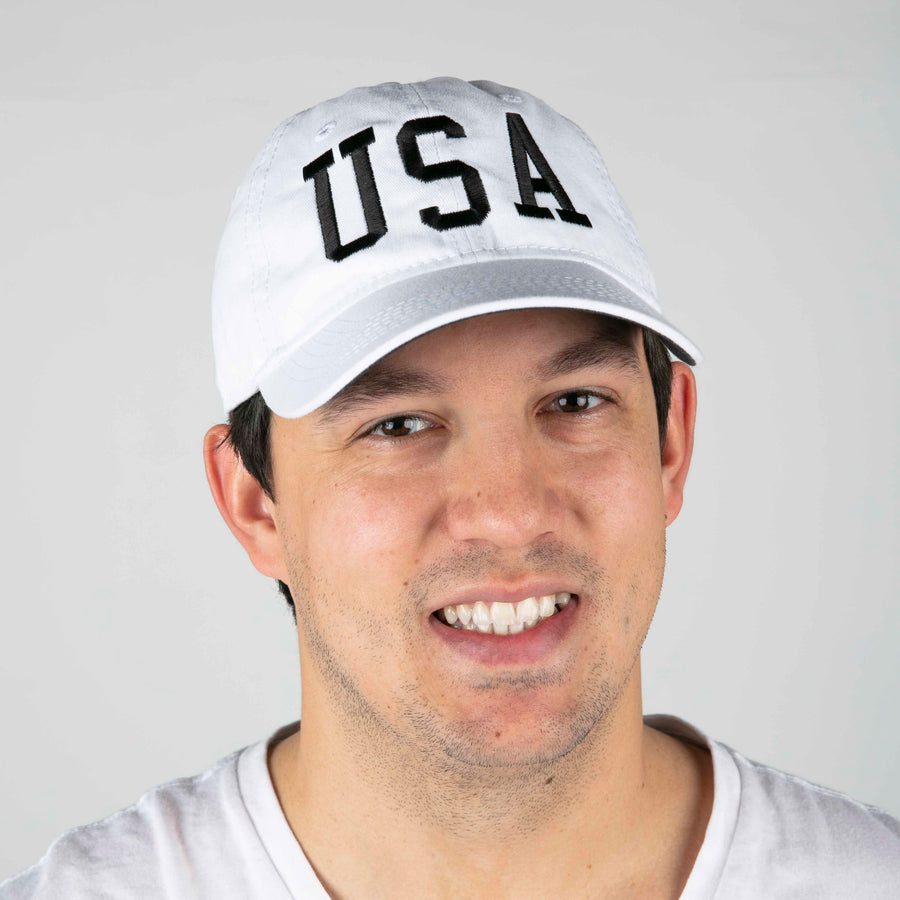 USA Hat | White