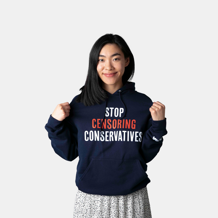Stop Censoring Conservatives Hoodie | Navy