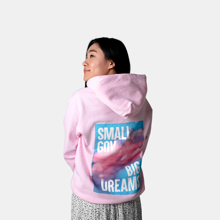 Small Gov, Big Dream Hoodie | Pink