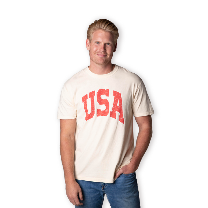 Vintage USA Short Sleeve Tee | Cream