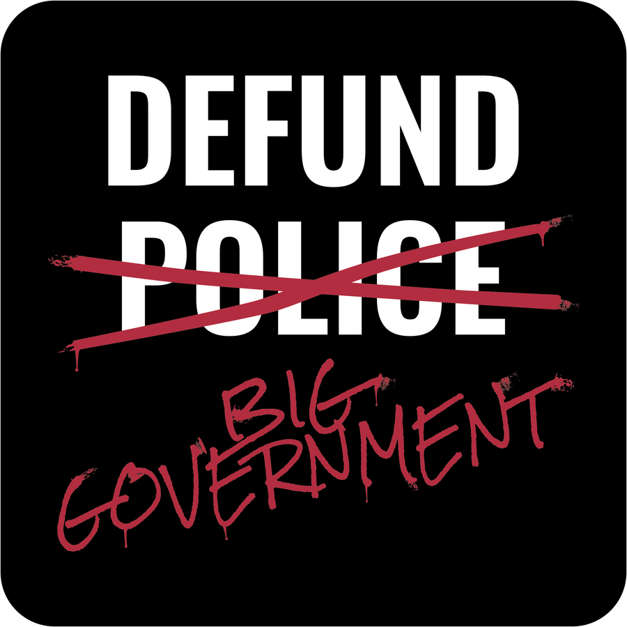 Defund Government Short Sleeve Tee | Black