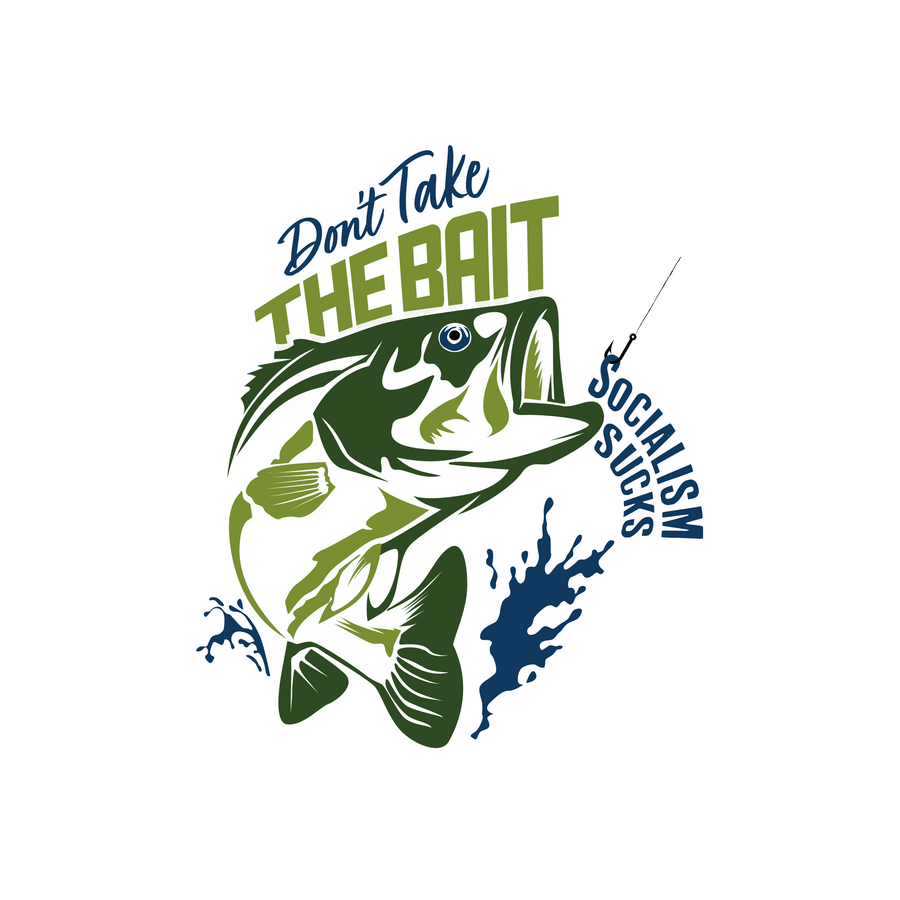 Don't Take The Bait Long Sleeve | White