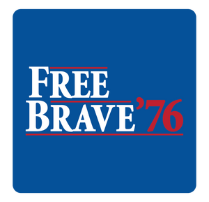 Free & Brave '76 Short Sleeve Tee | Royal Blue