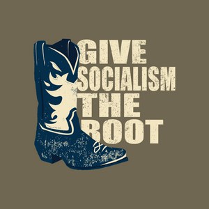 Give Socialism The Boot Short Sleeve | Heather Brown