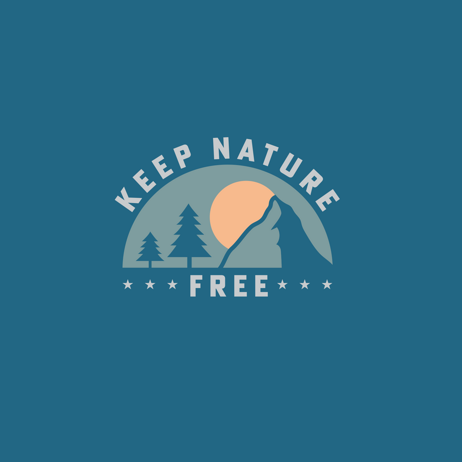 Keep Nature Free Short Sleeve | Steel Blue
