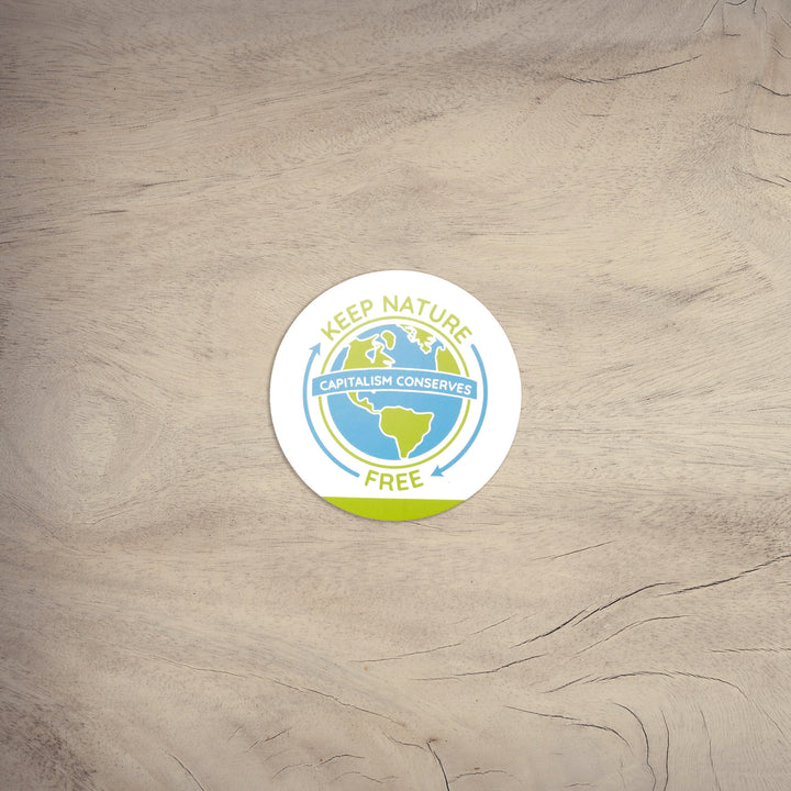 Keep Nature Free Circle | Sticker