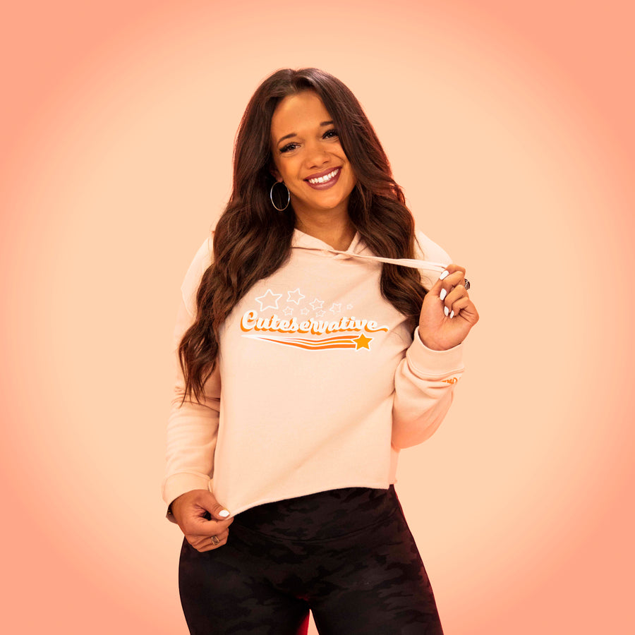 Cuteservative Crop Top Hoodie | Blush