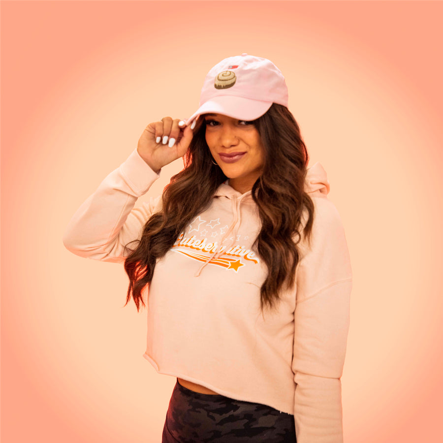 Cinnamon Roll Dad Hat | Light Pink