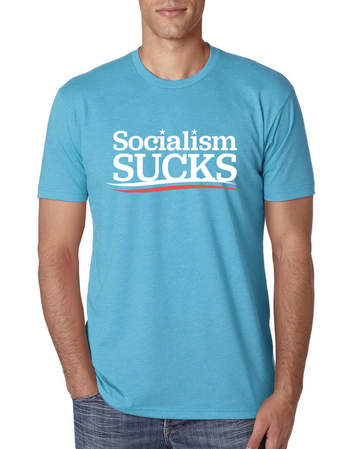 Socialism Sucks Unisex Short Sleeve Tee | Bondi Blue