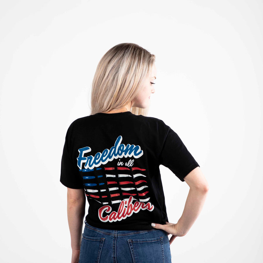 Freedom in All Calibers Short Sleeve Tee | Black