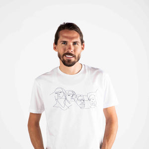 Mount Rushmore Short Sleeve Tee | White