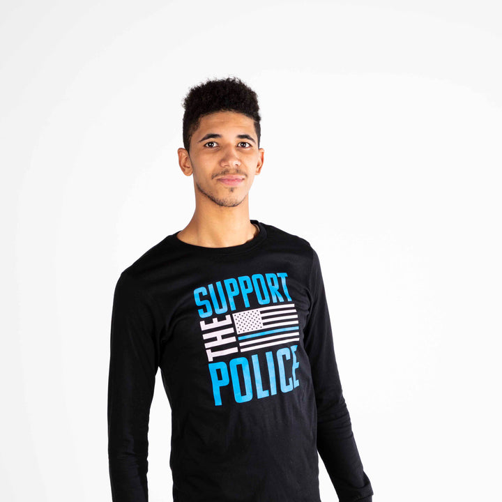 Support the Police Long Sleeve Shirt | Black
