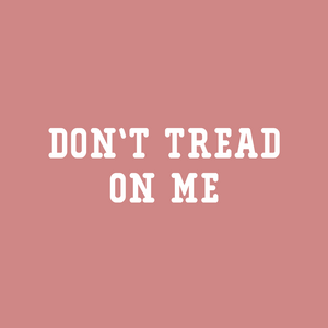 Don't Tread on Me Crop Tee | Mauve