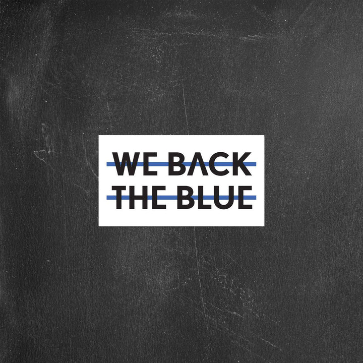 We Back the Blue | Sticker