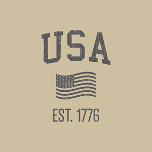 USA Crewneck Sweatshirt | Tan