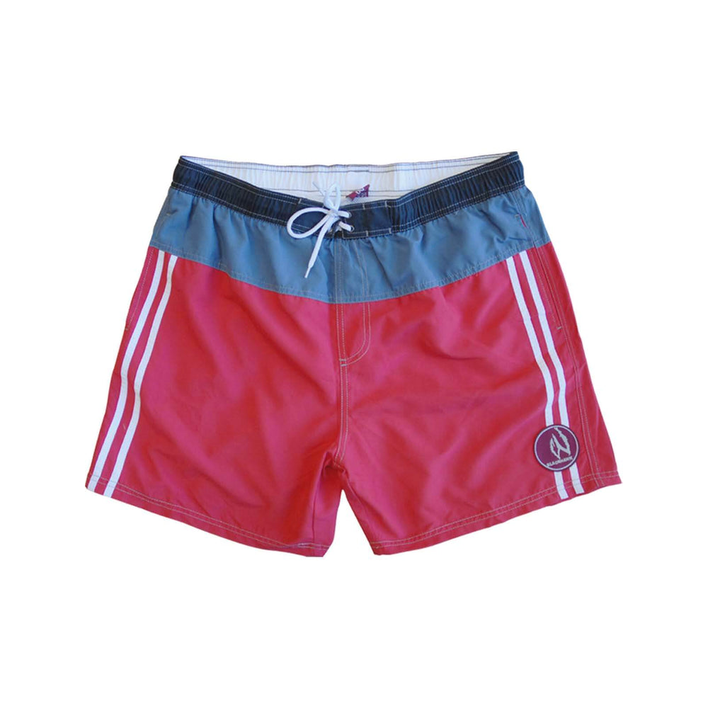 Mens Swim Beach Shorts Red/Blue BHACAPBS1