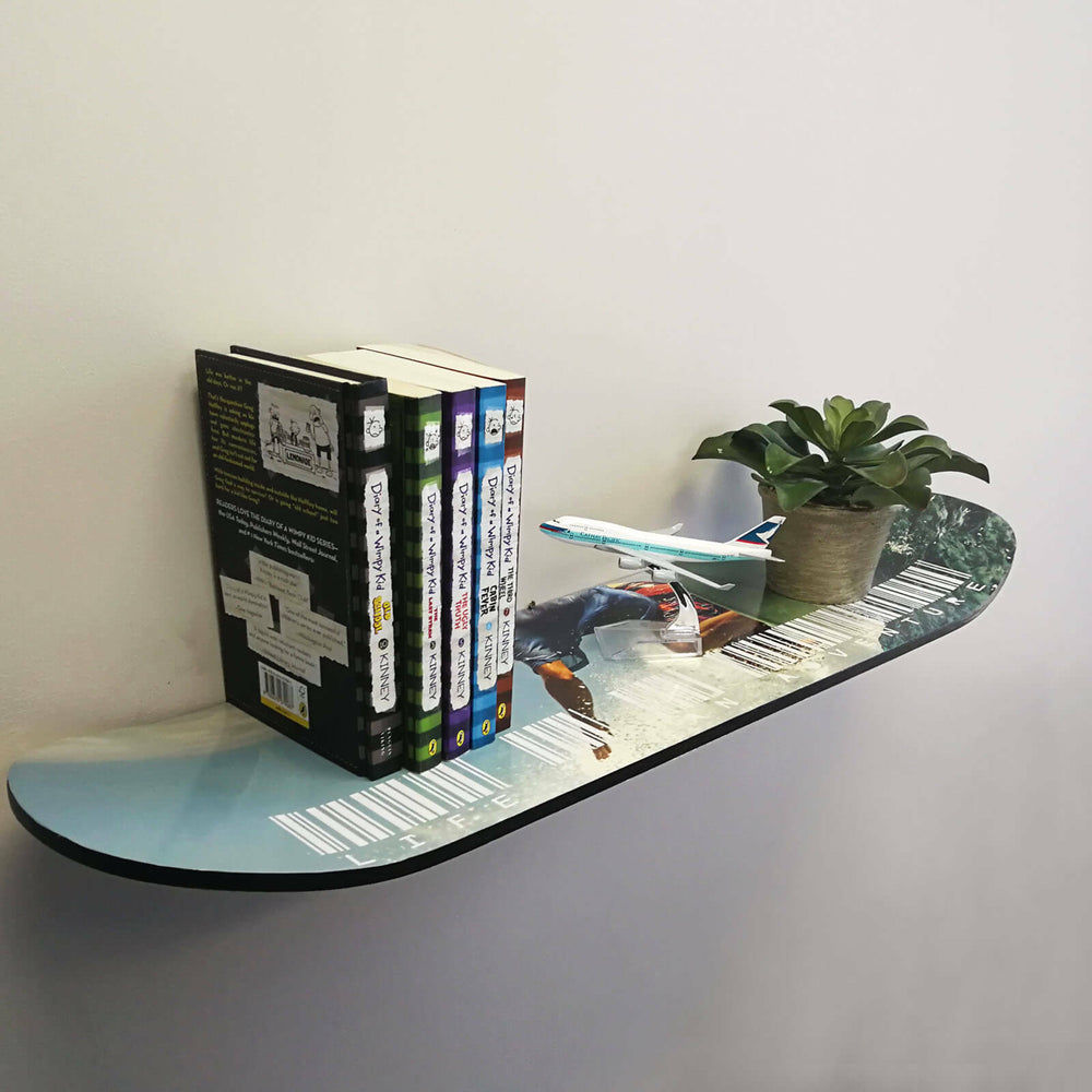 Wall Mount Skateboard Book Shelf - Blackhawk International