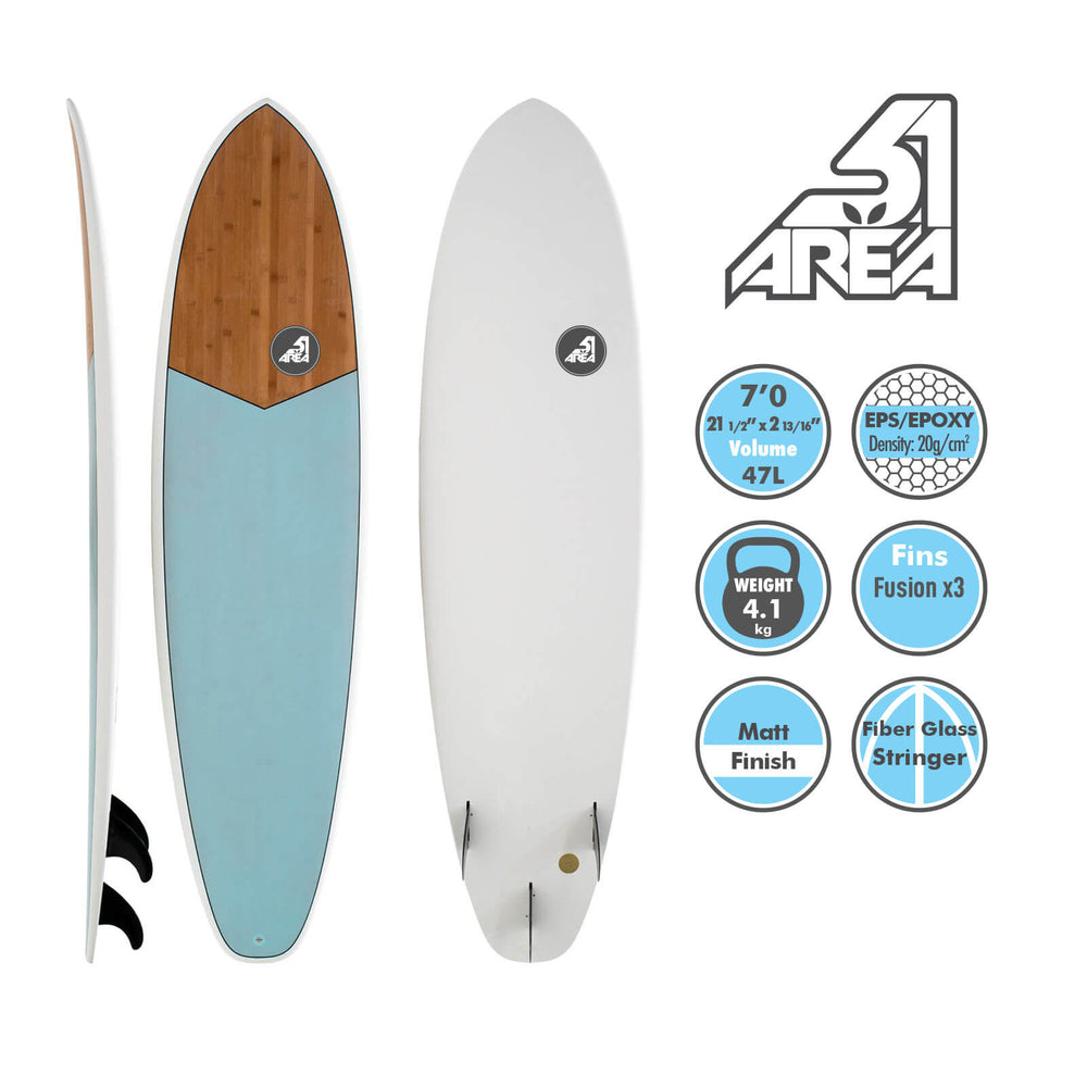 AREA51 6' 6'4 7' 7'6 8' Fun Mal Surfboard