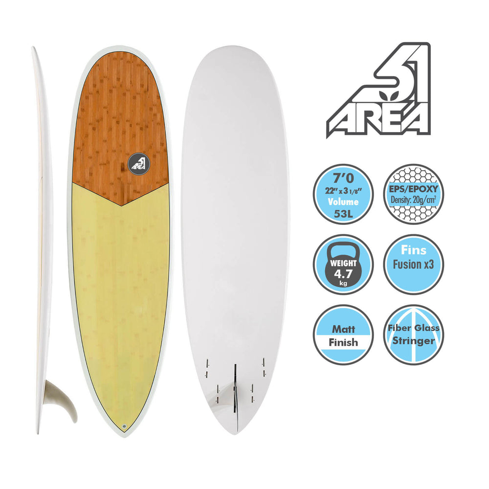 AREA51 6'8 7' 7'6 Fun Mal Surfboard