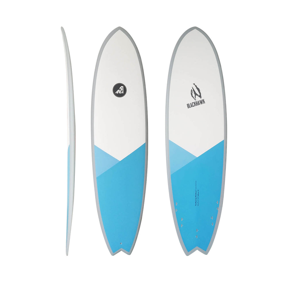 AREA51 Pod Fish 6'- 7'4 Surfboard Blue - Blackhawk International