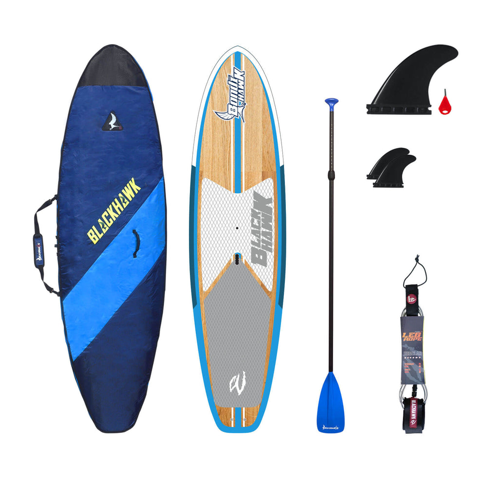 "10'6"" Bondihawk All-Rounder Bamboo Blue SUP Package"