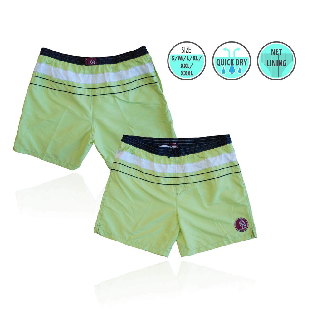 Mens Swim Beach Shorts Fresh Green BHACAPBS9