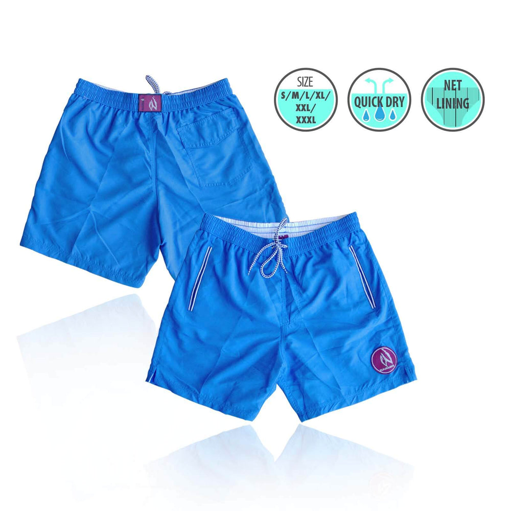 Mens Swim Beach Shorts Ocean Blue BHACAPBS3