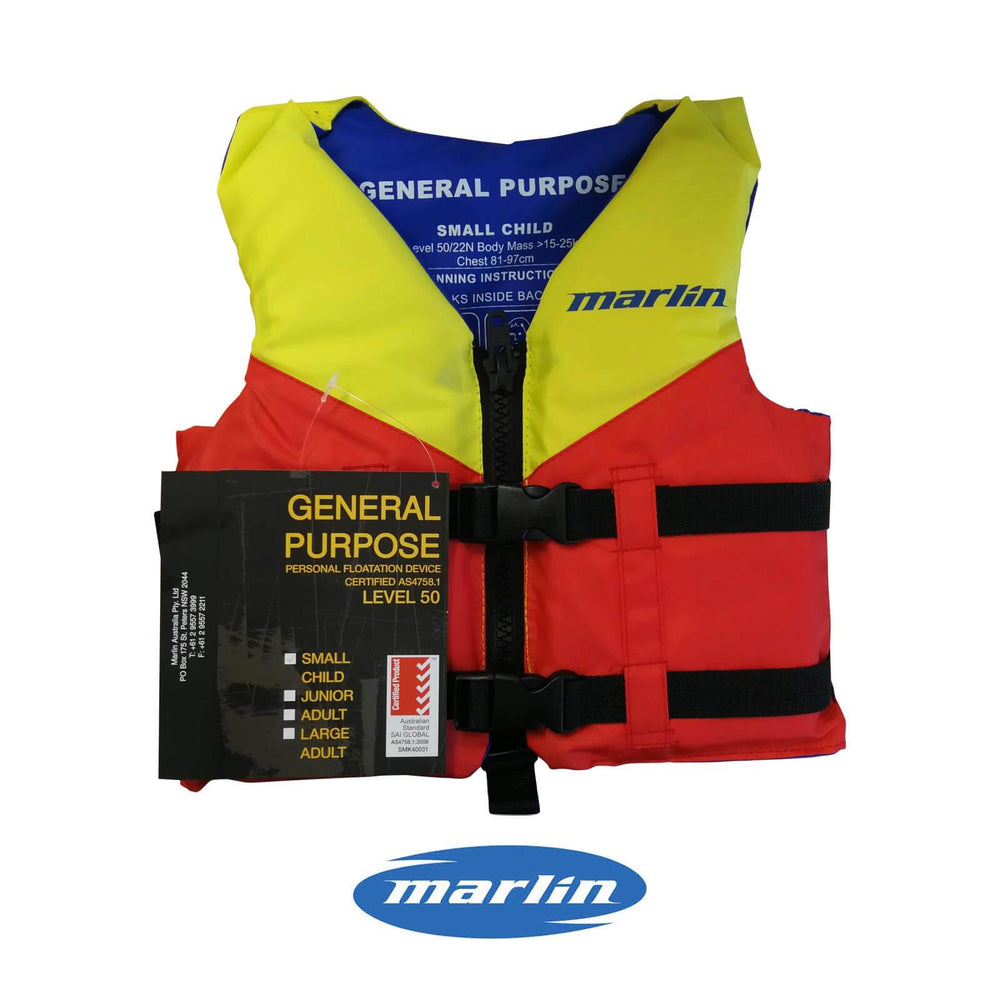 Marlin General Purpose Life Jacket LVL50 Small Child