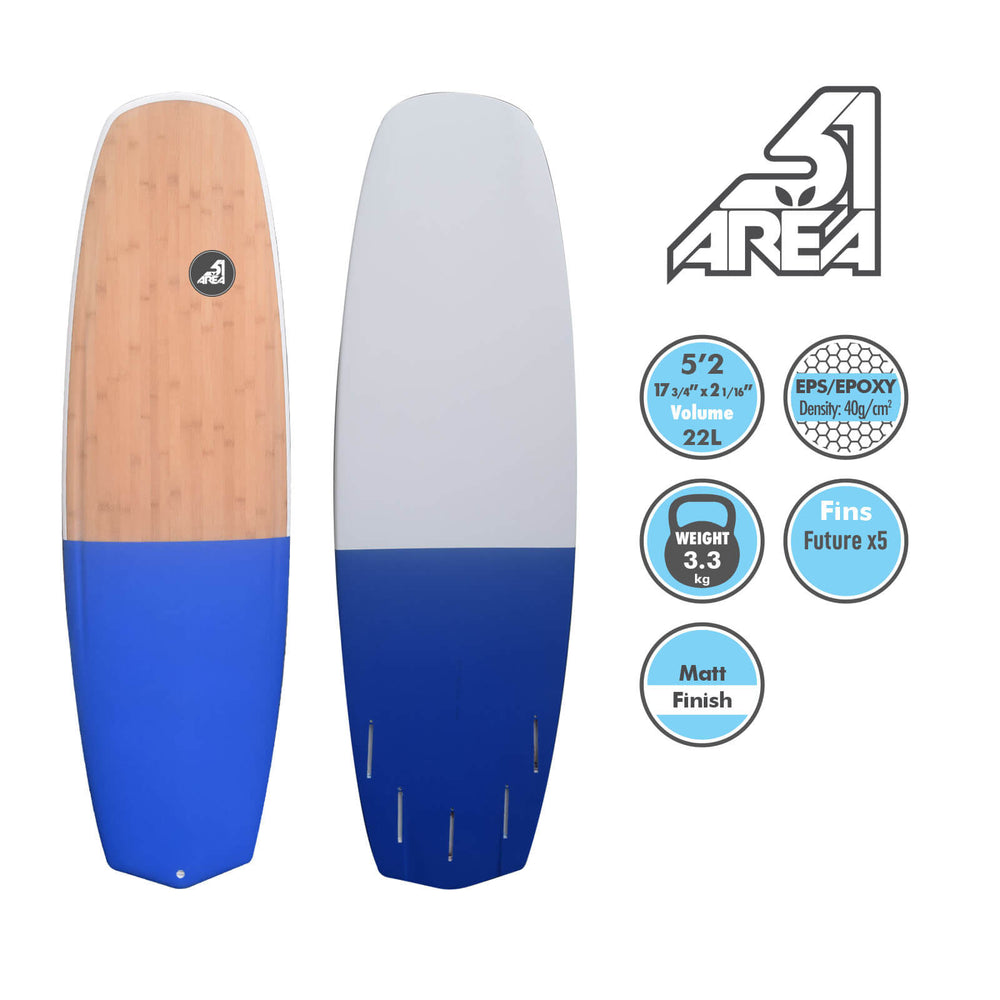 BLACKHAWK AREA51 EPS/EPOXY 5'-5'6 Shortboard Wakeboard