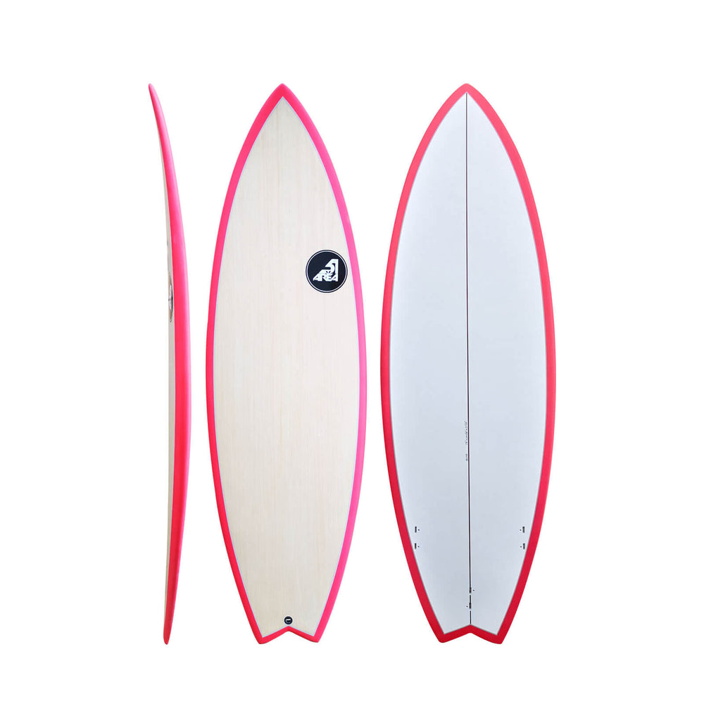 "AREA51 5'8""x20 1/4""x2 1/2"" Pod Fish Fishboard Surfboard K0148"