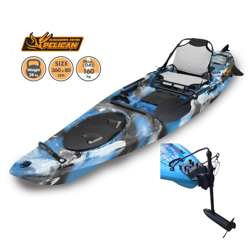 Motorized Pelican Kayak Navy