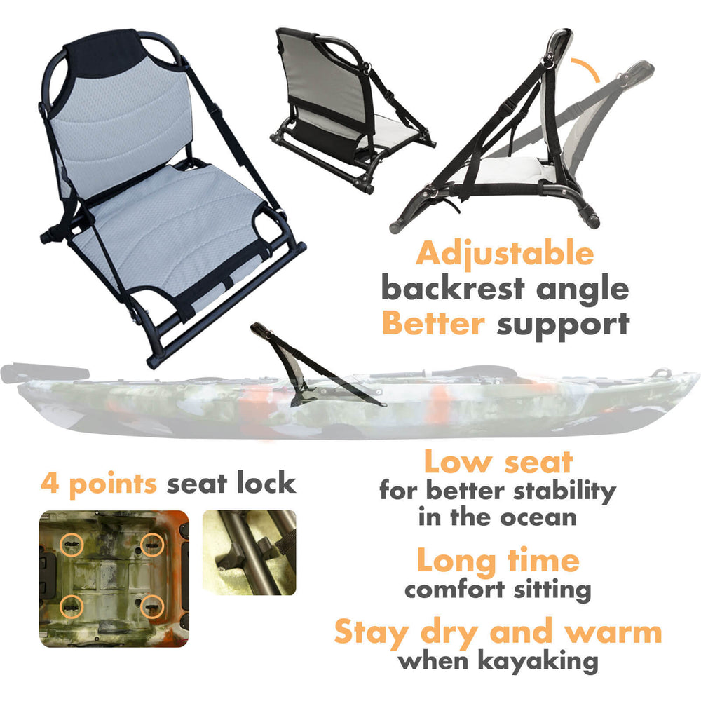 Aluminum Adjustable Fishing Kayak Beach Seat - Blackhawk International