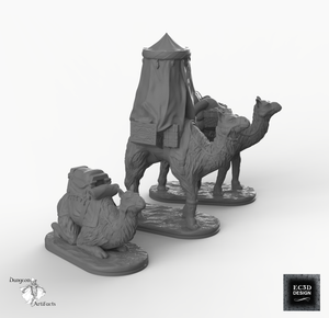 Camels - Empire of Scorching Sands Wargaming Terrain D&D, DnD, Pathfinder, SW Legion, Warhammer