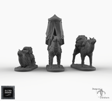 Load image into Gallery viewer, Camels - Empire of Scorching Sands Wargaming Terrain D&D, DnD, Pathfinder, SW Legion, Warhammer