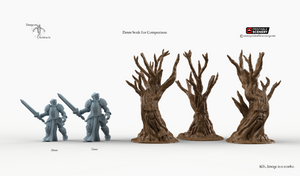 Winterdale - Wildwood Trees 28mm 32mm Wargaming Terrain D&D, DnD, Pathfinder, SW Legion, Warhammer, 40k