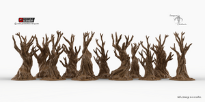 Winterdale - Gnarly, Wildwood, and Skull Tree Set 28mm 32mm Wargaming Terrain D&D, DnD, Pathfinder, SW Legion, Warhammer, 40k