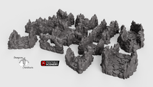 Load image into Gallery viewer, Clorehaven and the Goblin Grotto - Grotto Tunnels 15mm 28mm 32mm Wargaming Terrain D&D, DnD, Pathfinder, SW Legion, Warhammer, 40k
