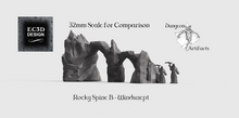 Load image into Gallery viewer, Rocky Spines - 15mm 28mm 32mm Wilds of Wintertide Wargaming Terrain D&D, DnD, Pathfinder, SW Legion, Warhammer