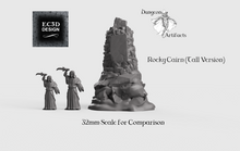 Load image into Gallery viewer, Rocky Cairn - 15mm 28mm 32mm Wilds of Wintertide Wargaming Terrain D&D, DnD, Pathfinder, SW Legion, Warhammer