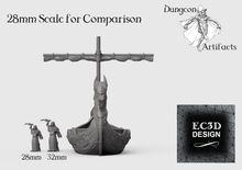 Load image into Gallery viewer, Longship - 15mm 28mm 32mm Wilds of Wintertide Wargaming Terrain D&D, DnD, Pathfinder, SW Legion, Warhammer