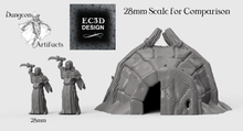 Load image into Gallery viewer, Hunter's Igloo - 15mm 28mm 32mm Wilds of Wintertide Wargaming Terrain D&D, DnD, Pathfinder, SW Legion, Warhammer