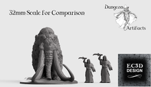 Load image into Gallery viewer, Woolly Mammoth -  15mm 28mm 32mm 42mm Wilds of Wintertide Wargaming Terrain D&D, DnD, Pathfinder, SW Legion, Warhammer