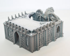 Skyless Realms Dark Elf Unholy Chapel -  28mm 32mm Wargaming Terrain D&D, DnD, Pathfinder, SW Legion, Warhammer, 40k