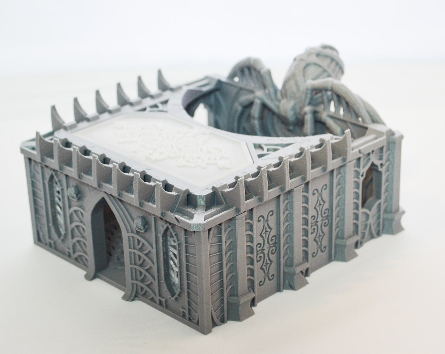 Skyless Realms Dark Elf Unholy Chapel - 15mm 28mm 32mm Wargaming Terrain D&D, DnD, Pathfinder, SW Legion, Warhammer, 40k
