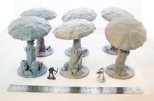 Load image into Gallery viewer, Large Mushrooms - 15mm 28mm 32mm Skyless Realms Wargaming Terrain, D&D, DnD, Pathfinder, SW Legion, Warhammer, 40k, Fungal Forest